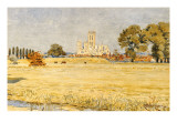 Canterbury Cathedral from the Meadows, 1894 Lámina giclée por Crane, Walter