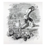 Gulliver Stealing the Blefuscudian Fleet Giclee Print by Grandville