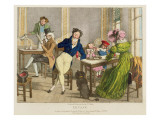 Le Cafe, Pub. by Rodwell and Martin, 1820 Giclee Print by John James Chalon