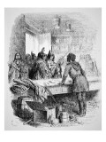 Native American Warriors Trading for Guns, 1845 Giclee Print by  American School