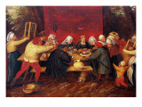 The Wedding Presents, C.1619 Lámina giclée por Pieter Bruegel the Younger