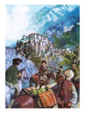 Lewis and Allan's Himalayan Journey Giclee Print by Clive Uptton