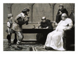 Fined for Sending Your Son to School Giclee Print by Frank Marsden Lea