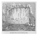 Inscription Rock, Near the Pueblo of Zuni Giclee Print by  American School