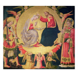 Coronation of the Virgin, C.1475 Impresso gicle por Neri Di Bicci