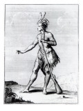 Iroquois Man, Inhabitant of Canada Giclee Print by Teodoro Viero