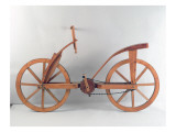 Reconstruction of Da Vinci&#39;s Design for a Bicycle Giclee Print by Leonardo da Vinci 