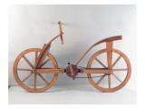 Ricostruzione del disegno di una bicicletta di Leonardo Da Vinci Stampa giclée di  Leonardo da Vinci