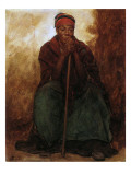 Dinah, the Black Servant, 1866-69 Reproduction proc&#233;d&#233; gicl&#233;e par Eastman Johnson