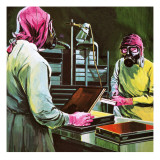 Medical Researchers at Work Reproduction procédé giclée par Gerry Wood