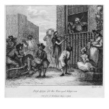 First Design for the Enraged Musician, 1799 Giclee Print by William Hogarth