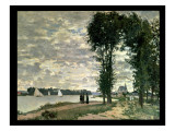 The Banks of the Seine at Argenteuil, 1872 Giclee Print by Claude Monet