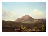 Camp Fire in the Maine Wilderness Giclee Print by Frederic Edwin Church