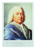Portrait of Johann Sebastian Bach Giclee Print by Gottlieb Friedrich Bach