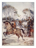 A Fine Exhibition of Horsemanship Giclee Print by Herbert Cole