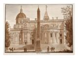 The Santa Maria Maggiore Obelisk, 1833 Giclee Print by Agostino Tofanelli