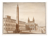 The Lateran Obelisk, from the Circus Maximus, 1833 Giclee Print by Agostino Tofanelli