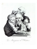 Les Mangeurs D'Huitres, 1825 Giclee Print by Louis Leopold Boilly