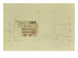 Plan for the Dresden Royal Theatre, C.1838 Giclee Print by Gottfried Semper