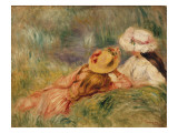 Young Girls by the Water, C.1893 Giclee Print by Pierre-Auguste Renoir