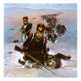 The French Retreat from Moscow in 1812 Giclee Print by Graham Coton