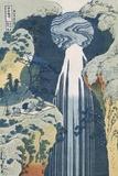 Amida Waterfall on the Kiso Highway Giclée-tryk af Katsushika Hokusai
