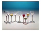 Collection of Wine Glasses, C.1755-60 Giclee Print