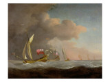 English Royal Yachts at Sea Giclee Print by Willem Van De, The Younger Velde