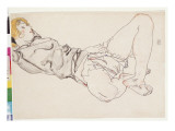 Reclining Woman with Blonde Hair, 1912 Giclee-vedos tekijn Schiele