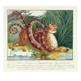The Tiger and the Boa Constrictor, 1835 Giclee Print by Aloys Zotl
