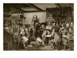 George Fox Preaching in a Tavern, C.1650 Giclee Print by Edward Henry Wehnert