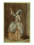 Portrait of Mademoiselle Sainval on Stage Giclee Print by  Carmontelle