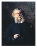 Portrait of Dmitri Vasilievich Grigorovich Giclee Print by Ivan Nikolaevich Kramskoy