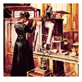 Madame Curie in Her Laboratory Giclee Print by English School 