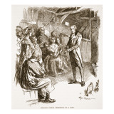 Charles Simeon Preaching in a Barn Giclee Print by Frederick Pegram