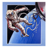 Space-Walk, from 'Famous Firsts' Giclee Print by Wilf Hardy