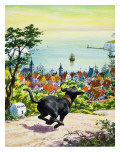 Dog Running to Find His Master, 1969 Giclee Print by  English School