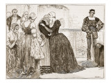 Anne Boleyn's Last Farewell to Her Ladies Giclee Print by Mary Gow