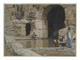 The Blind Man Washes in the Pool of Siloam Giclee Print by James Tissot
