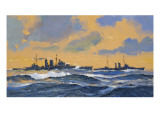 The British Cruisers Hms Exeter and Hms York Giclee Print by John S. Smith