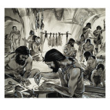 Mankind in the Making, the &#39;Ice-Age&#39; Giclee Print by Mcbride 