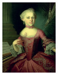 Maria-Anna Mozart, Called 'Nannerl Premium Giclee Print by Pietro Antonio Lorenzoni