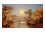 Indian Summer on the Delaware River, 1882 Reproduction procédé giclée par Jasper Francis Cropsey