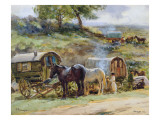 Gypsy Encampment, Appleby, 1919 Giclee Print by  Atkinson