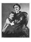 Madame Gide with Andre Gide, 1872 Giclee Print by French Photographer