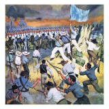The Defence of the Eureka Stockade Giclee Print by Mcbride 
