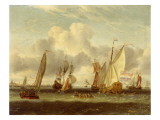 Shipping on the Ij at Amsterdam Harbour Giclée-Druck von Abraham Storck
