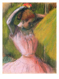 Dancer Arranging Her Hair, C.1900-12 Giclee Print by Edgar Degas