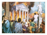 Destruction of the Temple of Ephesus Giclee Print by Alberto Salinas