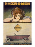 Advertisement for the Phanomen Car, 1907-27 Giclee Print by  Behrmann